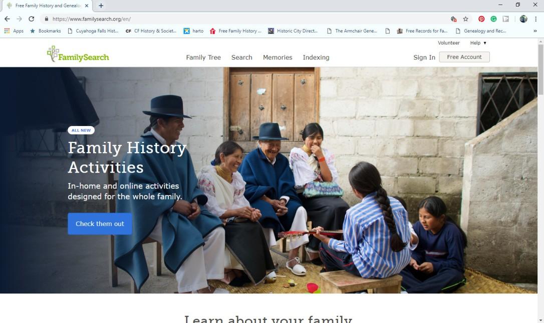 FamilySearch Screen Shot